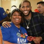 Chris Paul with mother Robin Paul
