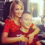 Dianna Agron with brother Jason Agron