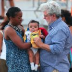 George Lucas with daughter Everest Hobson Lucas