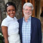 George Lucas with wife Mellody Hobson image