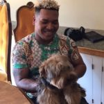 Jose Ramirez with pet dog
