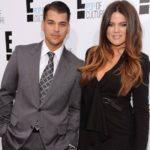 Khloe Kardashian with brother Rob Kardashian