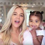 Khloe Kardashian with daughter True Thompson