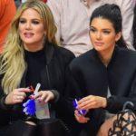 Khloe Kardashian with half-sister Kendall Jenner