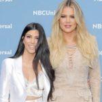 Khloe Kardashian with sister Kourtney Kardashian