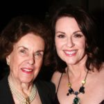 Megan Mullally with mother Martha Palmer