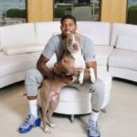 Paul George with his dog