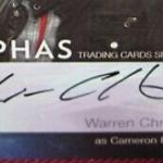 Warren Christie signature