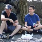 christian slater and his son Jaden Christopher Haddon-Slater