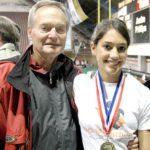 Allison Stokke with father Allan Stokke