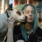 Billie Eilish with her pet dog Pepper
