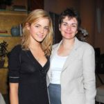 Emma Watson with mother Jacqueline Luesby