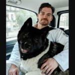 Henry Cavill with his pet dog