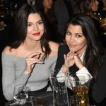 Kendall Jenner with half-sister Kourtney Kardashian