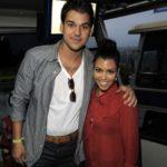 Kourtney Kardashian with brother Rob Kardashian