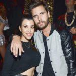 Kourtney Kardashian with former partner Scott Disick
