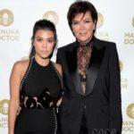 Kourtney Kardashian with mother Kris Jenner