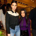 Kourtney Kardashian with sister Kendall Jenner