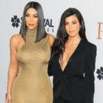 Kourtney Kardashian with sister Kim Kardashian
