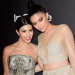 Kourtney Kardashian with sister Kylie Jenner