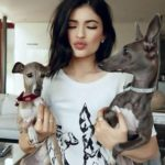 Kylie Jenner with her pets