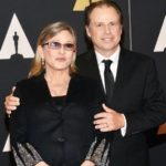 Carrie Fisher with brother Todd Fisher