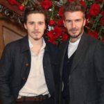 David Beckham with son Brooklyn Beckham