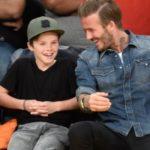 David Beckham with son Cruz Beckham
