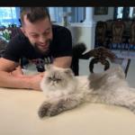 Finn and his pet cat image.