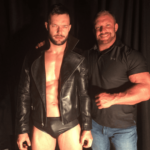 Finn and his trainer Johnny Moss image.
