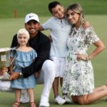 Jason Day with wife and kids Dash and Lucy