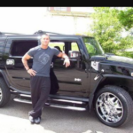 Randy and his car hummer