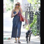 Sienna Miller with pet