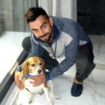 VIrat Kohli with his pet dog