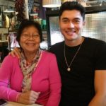 Henry Golding with mother Margaret Likan Golding