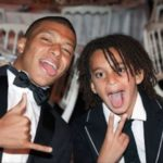 Kylian Mbappe with brother Adeyemi Mbappe