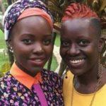 Lupita Nyong'o with sister Zawadi Nyong'o