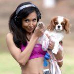 Naya Rivera with her pet dog
