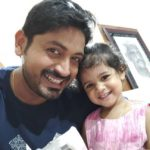 Arindam Roy with his daughter