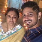 Arindam Roy with his mother