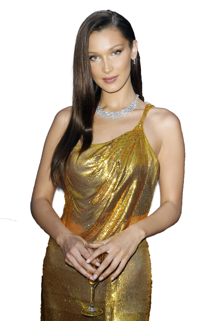Bella Hadid transparent background png image