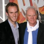 Charlie McDowell with father Malcolm McDowell
