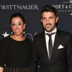 David Villa with wife Patricia Gonzalez