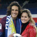 Edinson Cavani with girlfriend Jocelyn Burgardt