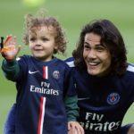 Edinson Cavani with son Lucas Cavani