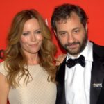 Judd Apatow with wife Leslie Mann image