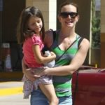 Leighton Meester with daughter Arlo Day Brody