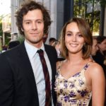 Leighton Meester with husband Adam Brody