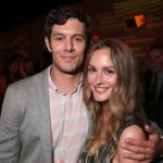 Leighton Meester with husband Adam Brody image