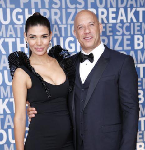 Paloma Jiménez with cool, Husband Vin Diesel